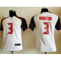 Nike Buccaneers #3 Jameis Winston White Youth Stitched NFL New Elite Jersey