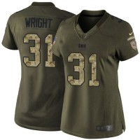 Nike Buccaneers #31 Major Wright Green Women's Stitched NFL Limited Salute to Service Jersey