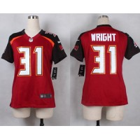 Nike Buccaneers #31 Major Wright Red Team Color Women's Stitched NFL New Elite Jersey