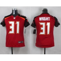 Nike Buccaneers #31 Major Wright Red Team Color Youth Stitched NFL New Elite Jersey