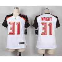 Nike Buccaneers #31 Major Wright White Women's Stitched NFL New Elite Jersey