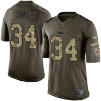 Nike Buccaneers #34 Charles Sims Green Youth Stitched NFL Limited Salute to Service Jersey