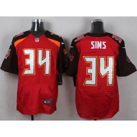 Nike Buccaneers #34 Charles Sims Red Team Color Men's Stitched NFL New Elite Jersey