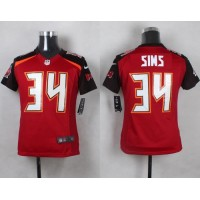 Nike Buccaneers #34 Charles Sims Red Team Color Youth Stitched NFL New Elite Jersey