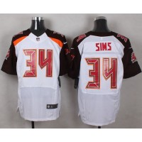 Nike Buccaneers #34 Charles Sims White Men's Stitched NFL New Elite Jersey