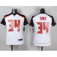 Nike Buccaneers #34 Charles Sims White Women's Stitched NFL New Elite Jersey