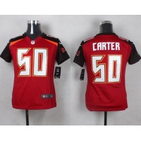 Nike Buccaneers #50 Bruce Carter Red Team Color Youth Stitched NFL New Elite Jersey