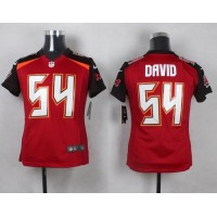 Nike Buccaneers #54 Lavonte David Red Team Color Youth Stitched NFL New Elite Jersey