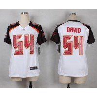 Nike Buccaneers #54 Lavonte David White Women's Stitched NFL New Elite Jersey
