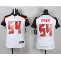 Nike Buccaneers #54 Lavonte David White Youth Stitched NFL New Elite Jersey