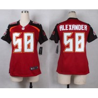 Nike Buccaneers #58 Kwon Alexander Red Team Color Women's Stitched NFL New Elite Jersey