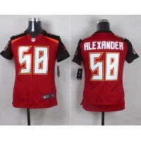 Nike Buccaneers #58 Kwon Alexander Red Team Color Youth Stitched NFL New Elite Jersey