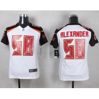 Nike Buccaneers #58 Kwon Alexander White Youth Stitched NFL New Elite Jersey