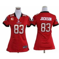 Nike Buccaneers #83 Vincent Jackson Red Team Color With C Patch Women's Stitched NFL Elite Jersey