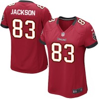 Nike Buccaneers #83 Vincent Jackson Red Team Color Women's NFL Game Jersey