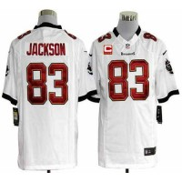 Nike Buccaneers #83 Vincent Jackson White With C Patch Men's Stitched NFL Game Jersey