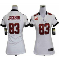 Nike Buccaneers #83 Vincent Jackson White With C Patch Women's Stitched NFL Elite Jersey