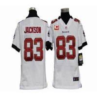 Nike Buccaneers #83 Vincent Jackson White With C Patch Youth Stitched NFL Elite Jersey