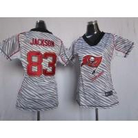 Nike Buccaneers #83 Vincent Jackson Zebra Women's Stitched NFL Elite Jersey