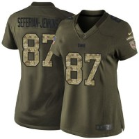 Nike Buccaneers #87 Austin Seferian-Jenkins Green Women's Stitched NFL Limited Salute to Service Jersey