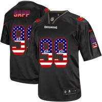 Nike Buccaneers #99 Warren Sapp Black Men's Stitched NFL Elite USA Flag Fashion Jersey