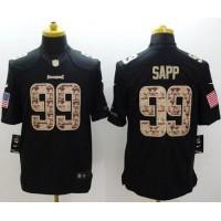 Nike Buccaneers #99 Warren Sapp Black Men's Stitched NFL Limited Salute to Service Jersey