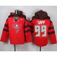 Nike Buccaneers #99 Warren Sapp Red Player Pullover NFL Hoodie