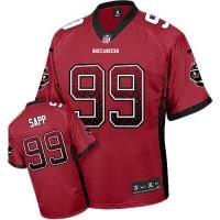 Nike Buccaneers #99 Warren Sapp Red Team Color Men's Stitched NFL Elite Drift Fashion Jersey