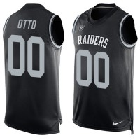 Nike Oakland Raiders #00 Jim Otto Black Team Color Men's Stitched NFL Limited Tank Top Jersey