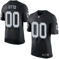 Nike Oakland Raiders #00 Jim Otto Black Team Color Men's Stitched NFL New Elite Jersey
