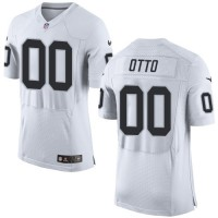 Nike Oakland Raiders #00 Jim Otto White Men's Stitched NFL New Elite Jersey