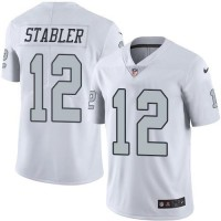 Nike Oakland Raiders #12 Kenny Stabler White Men's Stitched NFL Limited Rush Jersey