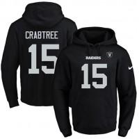 Nike Oakland Raiders #15 Michael Crabtree Black Name & Number Pullover NFL Hoodie