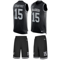Nike Oakland Raiders #15 Michael Crabtree Black Team Color Men's Stitched NFL Limited Tank Top Suit Jersey