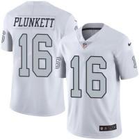 Nike Oakland Raiders #16 Jim Plunkett White Men's Stitched NFL Limited Rush Jersey