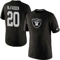 Nike Oakland Raiders #20 Darren McFadden Name & Number NFL T-Shirt Black