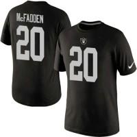 Nike Oakland Raiders #20 Darren McFadden Pride Name & Number NFL T-Shirt Black