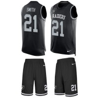 Nike Oakland Raiders #21 Sean Smith Black Team Color Men's Stitched NFL Limited Tank Top Suit Jersey
