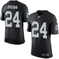 Nike Oakland Raiders #24 Willie Brown Black Team Color Men's Stitched NFL New Elite Jersey