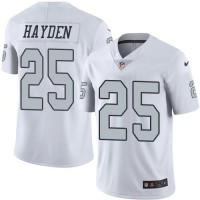 Nike Oakland Raiders #25 D.J. Hayden White Men's Stitched NFL Limited Rush Jersey