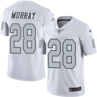 Nike Oakland Raiders #28 Latavius Murray White Men's Stitched NFL Limited Rush Jersey