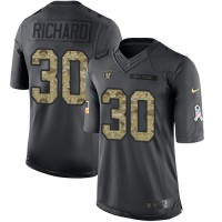 Nike Oakland Raiders #30 Jalen Richard Black Men's Stitched NFL Limited 2016 Salute To Service Jersey
