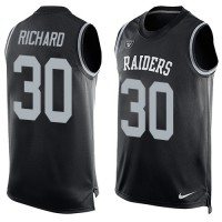 Nike Oakland Raiders #30 Jalen Richard Black Team Color Men's Stitched NFL Limited Tank Top Jersey