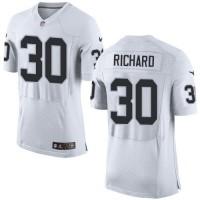 Nike Oakland Raiders #30 Jalen Richard White Men's Stitched NFL New Elite Jersey