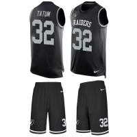 Nike Oakland Raiders #32 Jack Tatum Black Team Color Men's Stitched NFL Limited Tank Top Suit Jersey