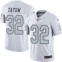 Nike Oakland Raiders #32 Jack Tatum White Men's Stitched NFL Limited Rush Jersey