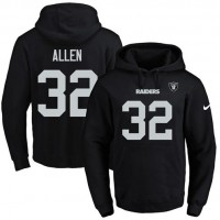 Nike Oakland Raiders #32 Marcus Allen Black Name & Number Pullover NFL Hoodie