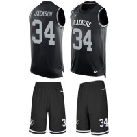 Nike Oakland Raiders #34 Bo Jackson Black Team Color Men's Stitched NFL Limited Tank Top Suit Jersey