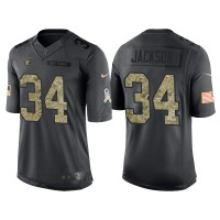 Nike Oakland Raiders #34 Bo Jackson Men's Stitched Anthracite NFL Salute to Service Limited Jerseys