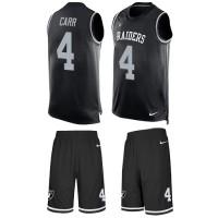 Nike Oakland Raiders #4 Derek Carr Black Team Color Men's Stitched NFL Limited Tank Top Suit Jersey
